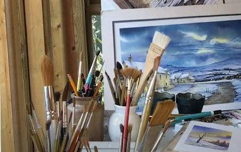 Learn how to paint for free with theis free watercolour painting kit worth £15