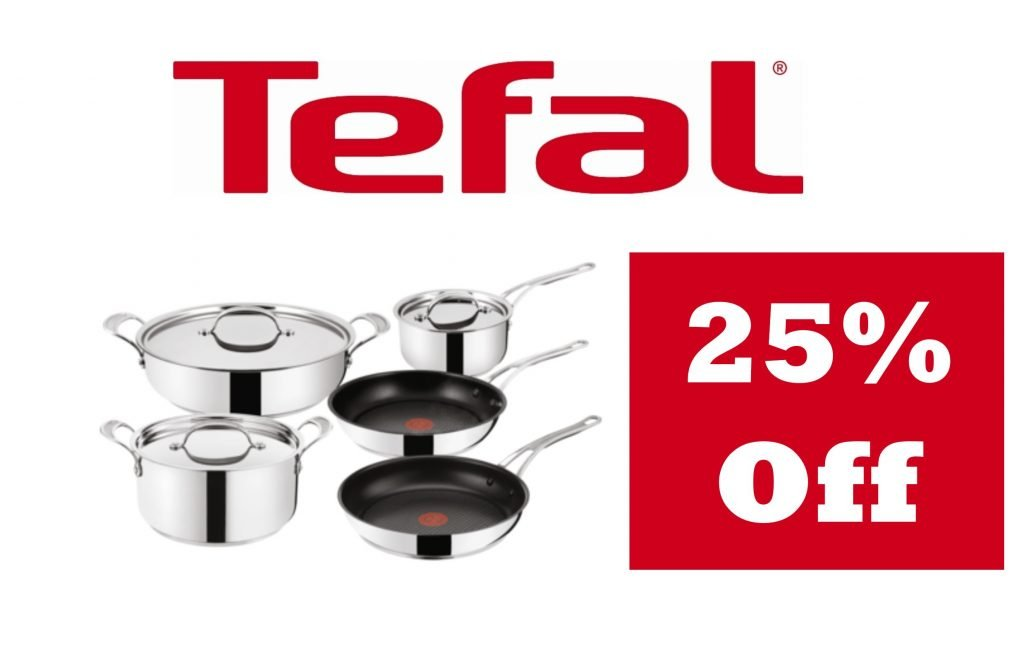 Save 25% off all Tefal products